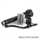 Q1301 CREE XM-L T6 600lm 5-Mode White Diving Flashlight - Black (2 x 18650)