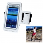 Sport Outdoor Adjustable Neoprene Armband for Samsung N7100 - White + Black