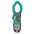 "Pro'sKit MT-3102 1.7"" LCD Mini Hand-Held Digital Clamp Meter - Green + Dark Grey (3 x AAA)"