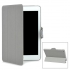 Protective Twill Pattern PU Case for Ipad MINI - Grey