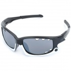 XunQi 077 Outdoor Cycling UV400 Protection Sunglasses Goggle - Black + White