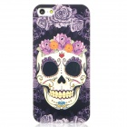 Airwalks Rose Skull Pattern Protective PC Back Case for Iphone 5 - Black + Purple