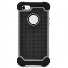 Protective Anti-Skid + Shock Resistant + Water Resistant Back Case for Iphone 5 - Black + Grey