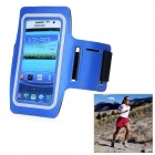 Sport Outdoor Adjustable Neoprene Armband for Samsung N7100 - Blue + Black