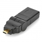 HDMI V1.4 Male to Male Cable w/ 180' Rotation Micro HDMI Male to HDMI Female Adapter - Black (300cm)