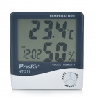 Pro's Kit NT-311 3.8'' LCD Digital Temperature Humidity Meter - White + Deep Grey (1 x AAA)