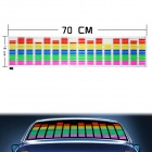 Car Sound Control Sensor Music Rhythm Electro-Luminescent Sheet Decoration Light Lamp (80 x 19cm)