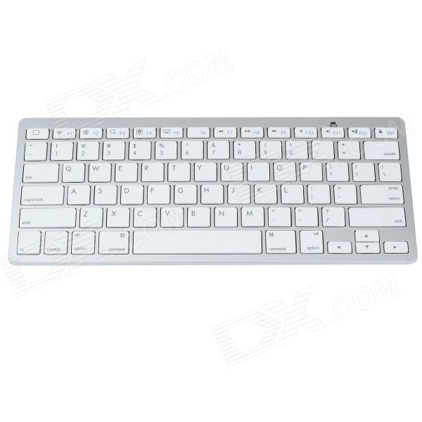 где купить K1280 Ultra-thin Wireless Bluetooth v3.0 78-Key Keyboard - White (2 x AAA) дешево