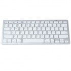 K1280 Ultra-thin Wireless Bluetooth v3.0 78-Key Keyboard - White (2 x AAA)