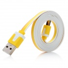 USB 2.0 to Micro USB Male to Male Data / Charging Cable for Cell Phone - Yellow + Orange + White