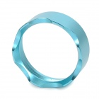 Replacement Aluminum Alloy Crown Head Front Cover for Flashlight - Blue