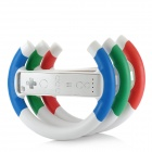 GTcoupe W-001 ABS + PVC Steering Wheel Controller for Wii - Blue / Red / Green (3 PCS)