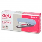 Deli 0238-10 Fashion Portable Plastic Stapler - Light Blue + Black