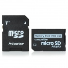 SDHC MicroSD/Transflash TF to Memory Stick PRO Duo Card Adapter (PSP Compatible)