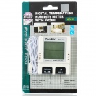 "Pro'sKit NT-312 Digital 2"" LCD Temperature Humidity Tester - White + Black (1 x AAA)"