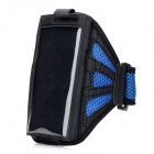 Waterproof Outdoor Sports Nylon Armband for Samsung Galaxy Note 2 / N7100 - Blue + Black