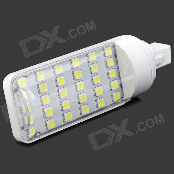 SENCART G24 6W 420lm 6500K White 30-SMD 5050 LED Light Bulb - White (85~265V)