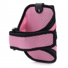 Sports Gym Arm Band Mesh Case for Samsung Galaxy Note II N7100 - Pink + Black