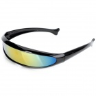 Fashionable Outdoor Cycling Sunglasses Goggle - Black + Yellow Revo