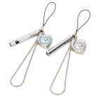 Cute Whistle & Heart Shape Voice I LOVE YOU Keychain for Couples - Silver (2 PCS)