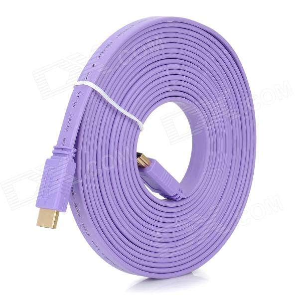 High-Speed HDMI V1.4 Male to Male Flat Connection Cable - Purple (500cm) rj45 8p8c male to male high speed cat6a flat lan network cable purple 1485cm
