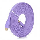 High-Speed HDMI V1.4 Male to Male Flat Connection Cable - Purple (500cm)