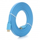 High-Speed HDMI V1.4 Male to Male Flat Connection Cable - Blue (500cm)
