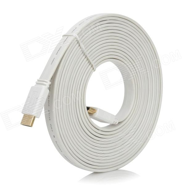 HDMI V1.4 Male to Male Flat Connection Cable - White (5M) что такое жить вместе