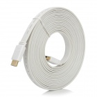 HDMI V1.4 Male to Male Flat Connection Cable - White (5M)