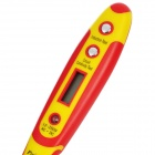 "Pro'sKit NT-305 Multi-Functional 0.7"" LCD Digital Voltage Tester Pen - Yellow + Red (2 x CR927)"