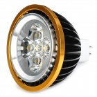 GU5.3 5W 420lm 3800K Warm White 5-LED Spot Light - Black + Golden (12V)