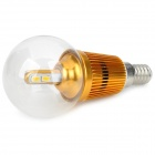 E14 3W 300lm 3300K Warm White 6-SMD 5630 LED Light Bulb - Golden (110~250V)