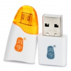 Kawau C310 USB 2.0 Micro SD / TF Card Reader OTG for Samsung i9100 / i9300 / N7000 / i9220 - White