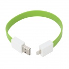 USB to 8-Pin Lightning Charging / Data Bracelet Cable for iPhone 5 / iPad 4 / iPad Mini - Green