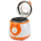 805 Mini ABS + Stainless Steel Electric Fast Heat Deep Fryer w/ Oil Removing Mesh - White + Orange