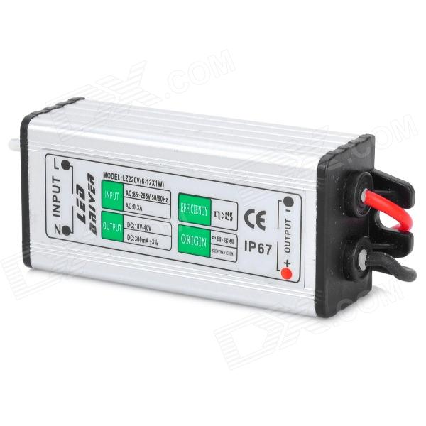 Waterproof 6~12W LED Constant Current Power Supply Transformer Driver (AC 85~265) led driver ac input 220v to dc 1800w 0 60v 30a adjustable output switching power supply transformer for led strip light