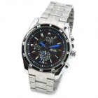 WEIDE WH1112-1 Fashion Men's Stainless Steel Quartz Analog Wrist Watch - Black + Silver