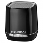 Hyundai i80 Portable USB Rechargeable Bluetooth V3.0+EDR Stereo Speaker w/ TF Slot - Black + Silver