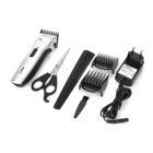 SHD-8201 Electric Rechargeable Hair Clipper w/ Positioning-Comb - Silver (AC 100~240V)