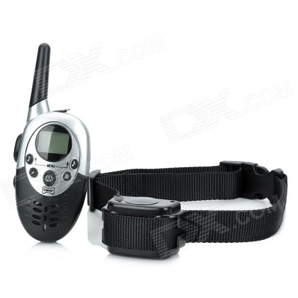 E613 1.1 LCD 4-Mode Remote Control Pet Bark Stop Training Collar w/ Light & Sound Effect - Black pret 850 dog pet training collar anti bark rechargeable waterproof vibration shock collar electric dog training collar