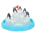 Plastic Penguin Pile-Up Game Toy - Black + White + Blue