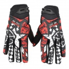 SCOYCO MX44 Motorcycle Racing Full Finger Schutzhandschuhe - Red + Black + White (Pair / Größe M)