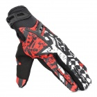 SCOYCO MX44 Motorcycle Racing Full Finger Protective Gloves - Red + Black + White (Pair / Size M)