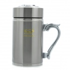 Yongquan Stainless Steel High-vacuum Water Bottle / Cup - Silver (420ml)