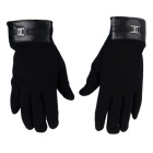 Hand Warmer Full-Finger Winter Gloves for Ipad / Samsung Galaxy Note 2 - Black (Pair)