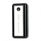 Tragbare 5600mAh Mobil External Power Battery w / LED für iPhone / Samsung / HTC + More - Schwarz