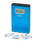 "ZTB-99 1.2"" LCD 11200mAh Dual-USB Mobile Emergency Power Charger Battery w/ LED Flashlight - Blue"