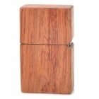 Windproof Kerosene Fuel Oil Wooden Lighter - Brown