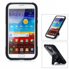 Cool Protective Back Case w/ Stand for Samsung Galaxy Note II N7100 - Black