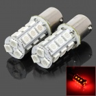 115650-18R 1156 3.5W 200lm Red Light 18-SMD 5050 LED Car Turn Signal / Tail Lamp (DC 12V / 2 PCS)
